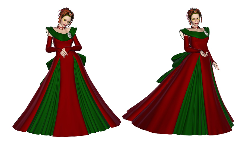 christmas-gown-dress-lady-winter-4528532