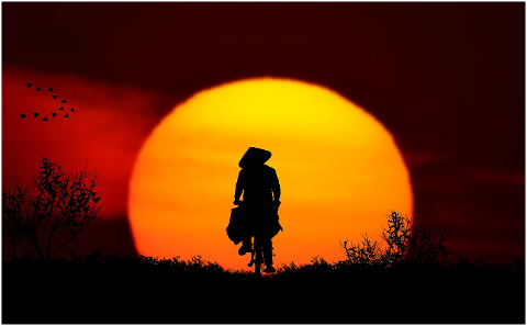 sunset-landscape-bike-asian-drive-4318548
