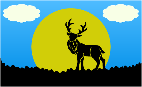 nature-illustration-deer-blue-sky-5947072