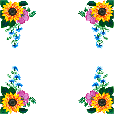 flowers-roses-sunflowers-border-6158631
