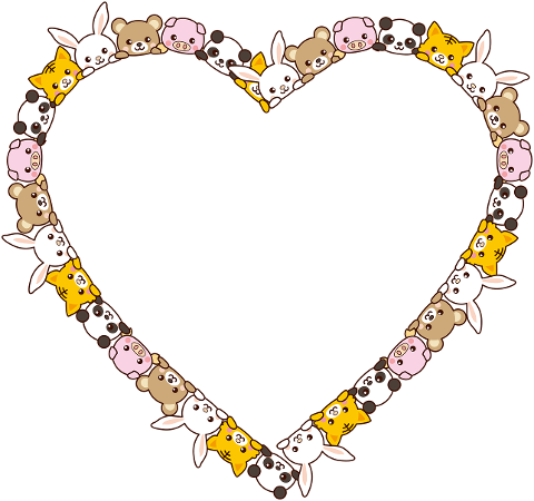 animals-heart-frame-border-love-5985897