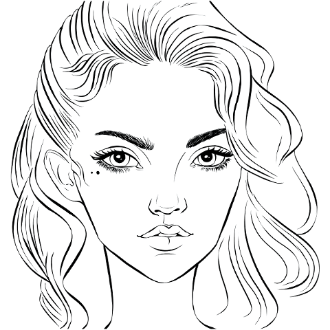 woman-face-line-art-girl-beautiful-6184474