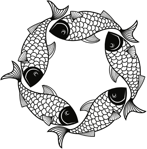 fish-frame-line-art-circle-round-5968752