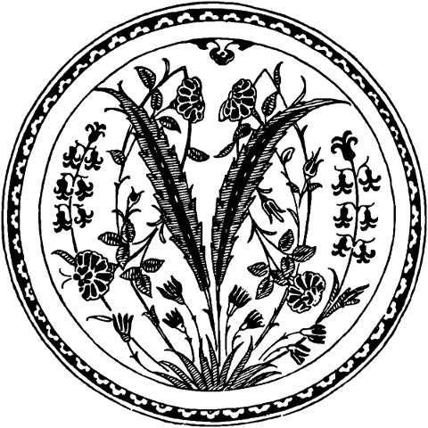 vintage-decor-plate-flower-leaf-4925696