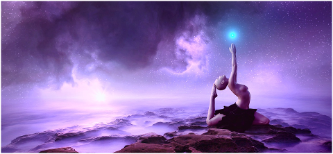 fantasy-woman-universe-meditation-6155620