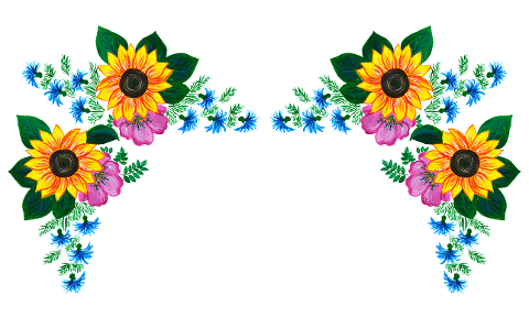 flowers-roses-sunflowers-border-6158627