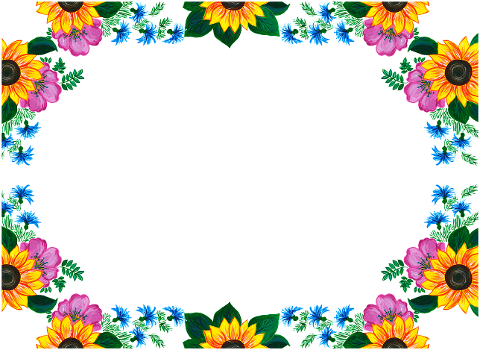 flowers-roses-sunflowers-border-6158632