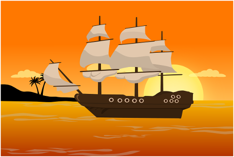 sea-ship-pirate-sunset-pirates-4737446