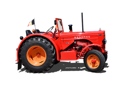 tractor-hanomag-isolated-old-5408355