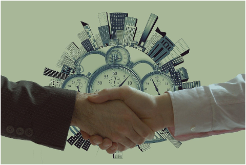 handshake-clock-buildings-concept-6135751