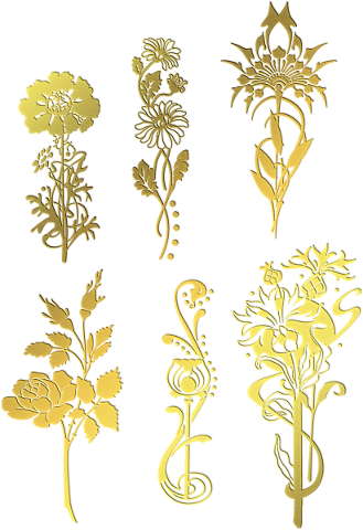 gold-foil-flowers-flower-gold-floral-4716253