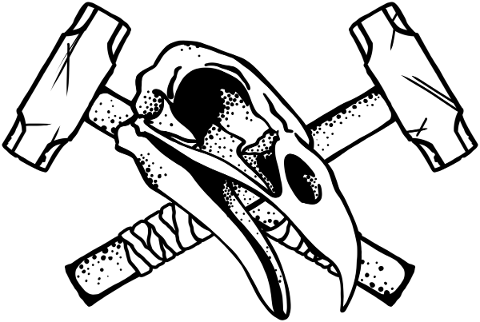bird-skull-hammer-drawing-horror-5821900