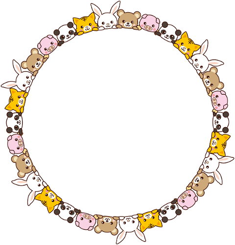 animals-round-frame-border-circle-5985896
