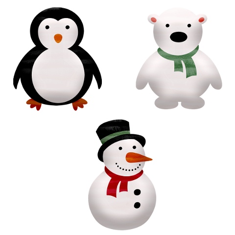 snowman-penguin-polar-bear-5815893