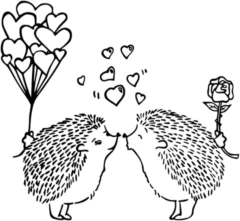 hedgehogs-couple-balloons-rose-5537345