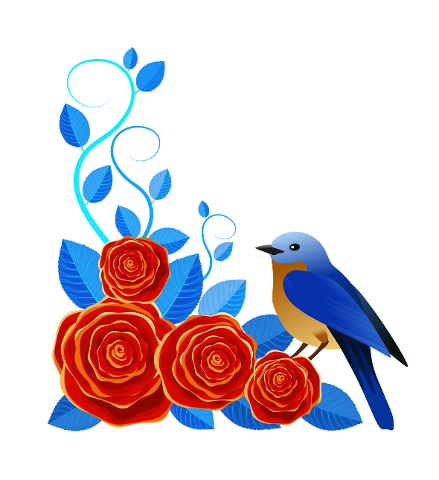 flowers-illustration-roses-bird-4385416
