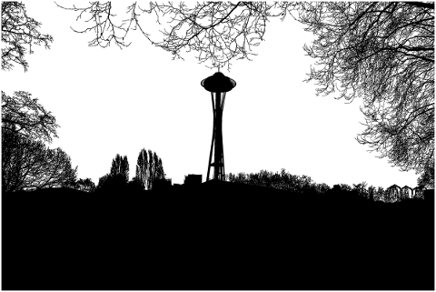 seattle-space-needle-silhouette-5118457