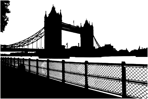 london-bridge-landscape-silhouette-4527051