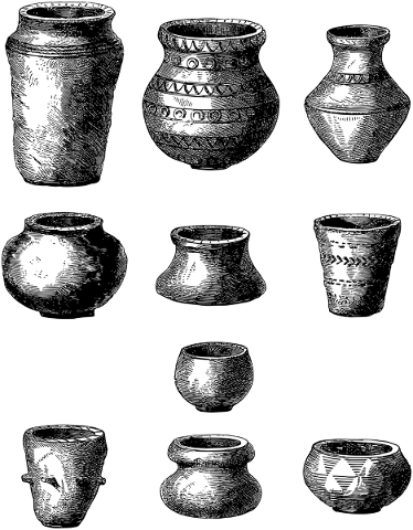 pottery-pots-line-art-earthenware-5161256