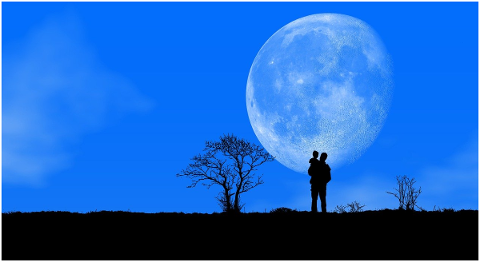 night-moon-sky-blue-nature-father-4999290