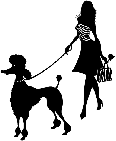 girl-with-poodle-silhouette-woman-4900845