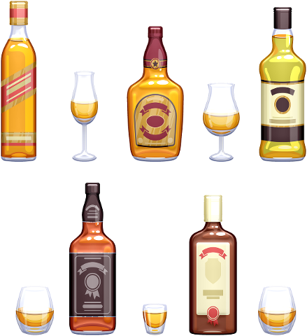 whisky-glasses-bottles-whiskey-4567954