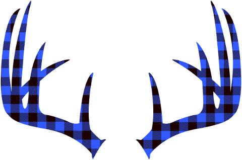 buffalo-plaid-antlers-blue-scottish-4918427