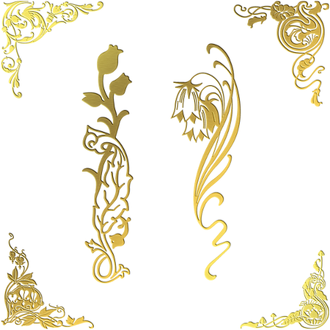 gold-foil-corners-flower-gold-floral-4716252