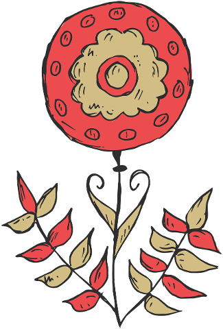 flower-plant-hand-drawn-red-color-4181056